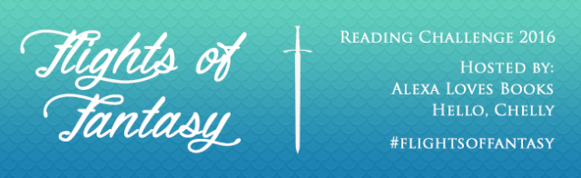 Flights of Fantasy Reading Challenge 2016 banner Alexa Loves Books Hello Chelly