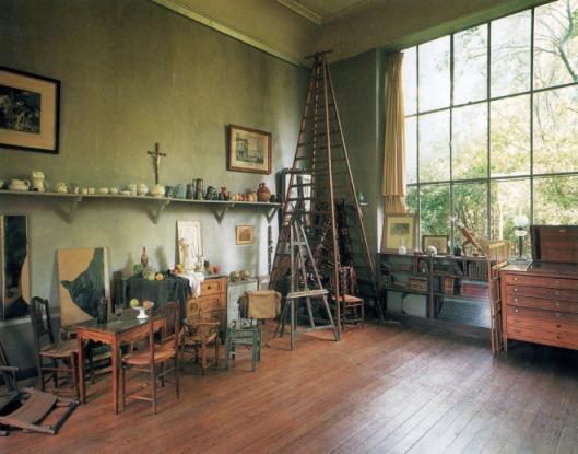Cezanne's studio in Aix en Provence, from artistsandstudios.tumblr