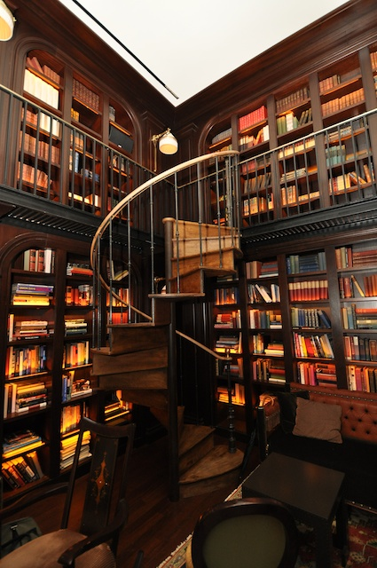 NoMad Spiral Staircase in Library, from Pinterest.