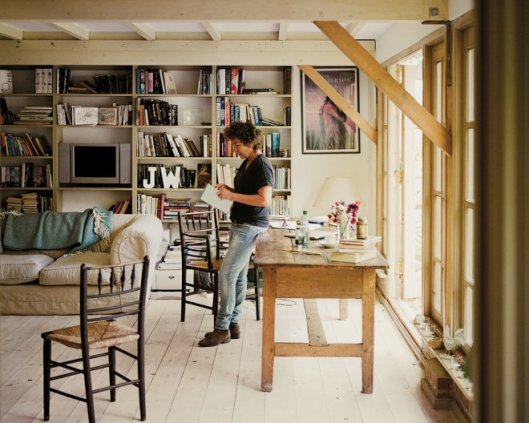 An airy delight: Jeanette Winterson in her rustic study, from NY Times.